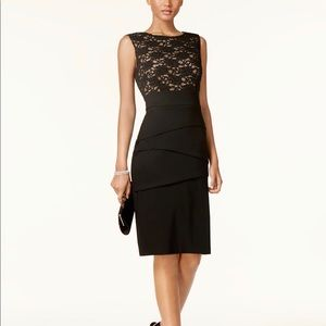Connected Women's Tiered Lace Sheath Dress CA165